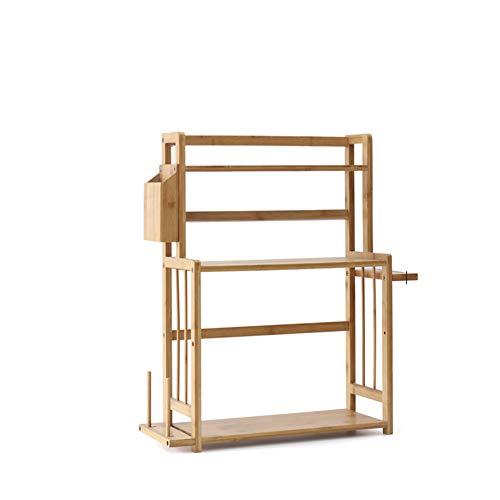 Kitchen Storage Shelf Racks Storage Basket Shelf Baskets Bamboo Household Spice Rack Kitchen Multifunction Tool Holder Multiple Choices ZHAOYONGLI (Size : 521860cm) by ZHAOYONGLI-shounajia (Image #1)