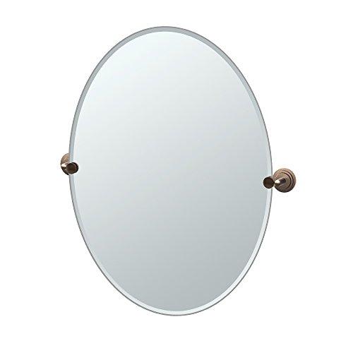 Gatco 4920LG Marina Frameless Oval Mirror, 27.5