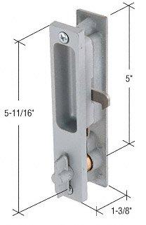 CRL Right Hand Aluminum Keyed Flush Mount Sliding Glass Door Handle Set, 5'' Screw Holes for Fran Meyers Doors