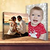 YOUR PHOTO/IMAGE ON CANVAS A3 = 12 x 16 inch on 18mm BOX FRAMED READY TO HANG