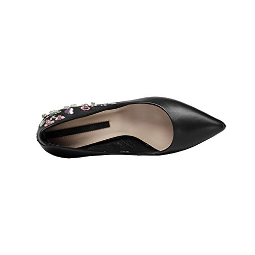 Slide Donna Bout Pointucm On 9 Vaneel nere pumps Scarpe Ricamato Vadxpt YAxqwt4n