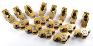 Crane Cams 15750-16 Gold Race Rockers w/ 1.7 Ratio for Chevrolet 348, 409 and 427 w/ 3/8'' Stud by Crane Cams