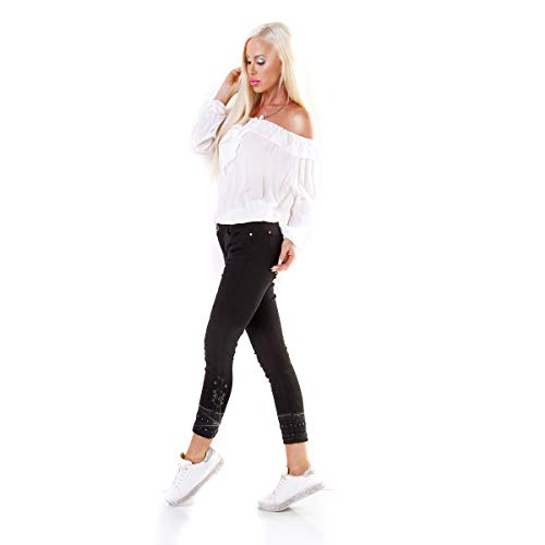 Glamour Angies Noir Jeans Femme Fashion dYOO4fqF