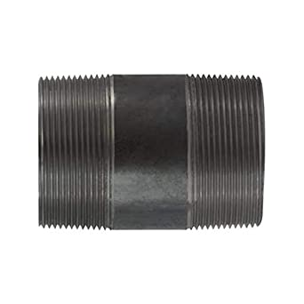 10 Length 4 Diameter Midland 59-229SMLS Extra Heavy Black Steel Pipe Nipple SCH 80 Seamless Steel 4 Diameter 10 Length 4 OD Midland Metal 4 OD