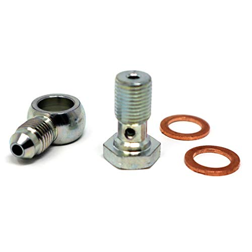 Fitting Bolt - Tier1 Motorsports 1 Steel Banjo Bolt Fittings M10 x 1.0 (Metric 10mm) to 3AN -3 AN3