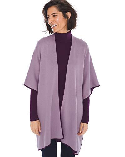 (Chico's Women's Reversible Button-Detail Ruana Size (S/M) Purple )