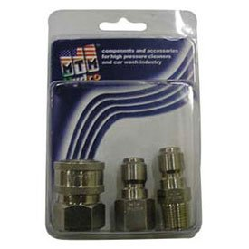 Mtm Hydro 7500 Psi 1/4'' Stainless Steel Coupler And Plug Pack by MTM Hydro