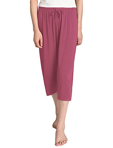 Latuza Women's Knit Capris Sleepwear L Brick Red - Knit Sleepwear