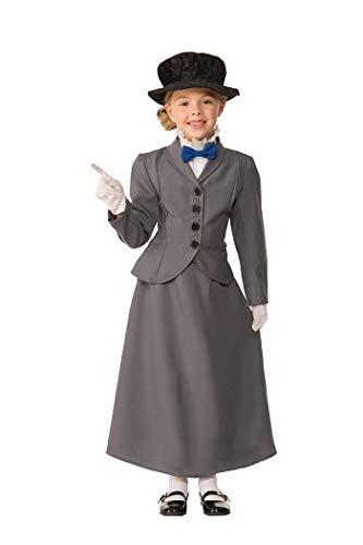 Forum Novelties Kids English Nanny Costume, Gray, Small for $<!--$18.07-->