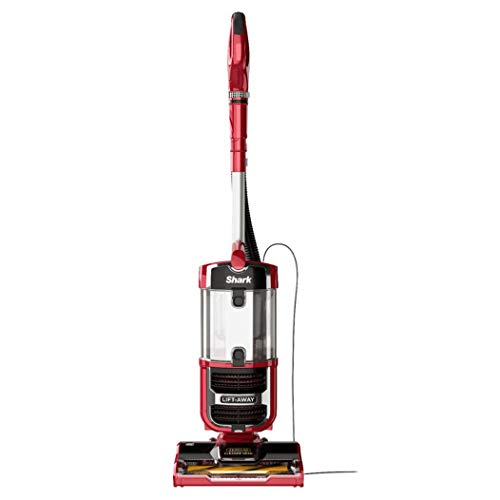 Shark Navigator Upright Vacuum with Lift-Away Zero-M Hair Wrap Technology, Anti-Allergen + HEPA Filter and Swivel Steering (ZU562), Red Peony (Renewed)
