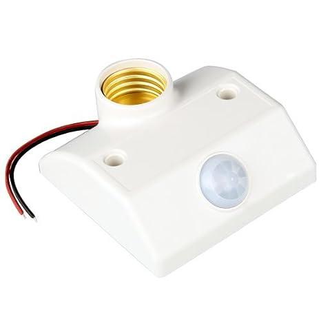 Base Portalamparas con Sensor Movimiento Infrarrojos Blanco: Amazon.es: Hogar