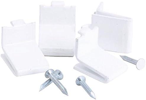 12-Pack Knape /& Vogt 256S-P-WH Shelf Support Clips White