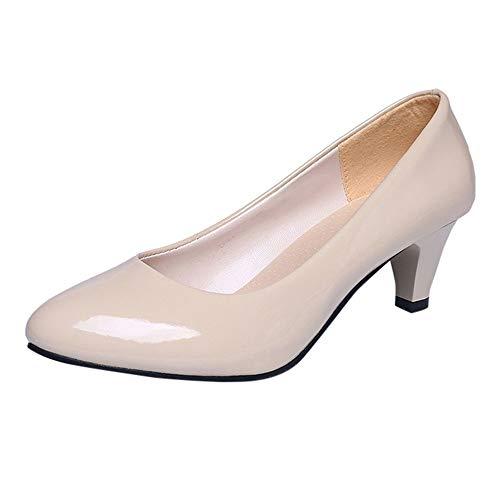 Beige Pas Élégant Escarpins Talon Cher Haut Chaussres Femme Pointu Shoes Bloc Osyard Pfqg4