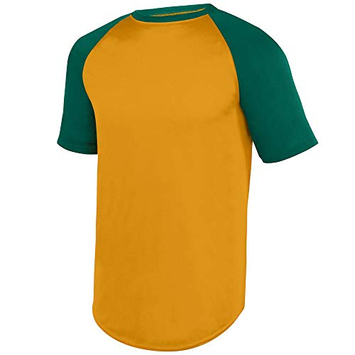Augusta Sports Youth Small Gold/D. Green SS Baseball Jersey