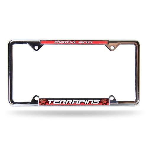 Rico Maryland Terrapins Chrome Metal License Plate Auto Frame ()