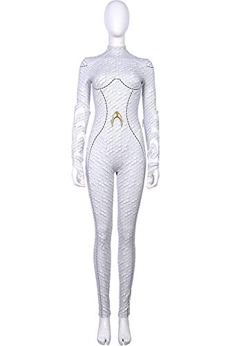 COSMOVIE Queen Atlanna Cosplay Costume Halloween Movie Character Role Play Dress Up ()