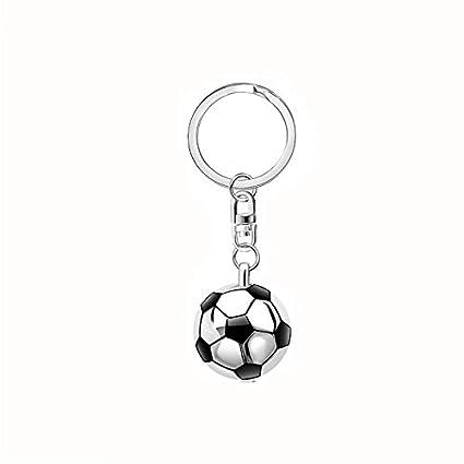 Vikenner - Llavero de Metal con diseño de balón de fútbol y Espejo ...