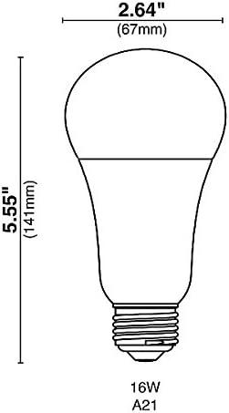 24 Qty Halco A21FR16//850//OMNI2//LED 81152 LED A21 16W 5000K DIMMABLE OMNIDIRECTIONAL E26 ProLED/ï