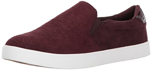Dr. Scholl's Shoes Women's Madison Fashion Sneaker, Merlot Microfiber Embossed Snake, 8.5 M US