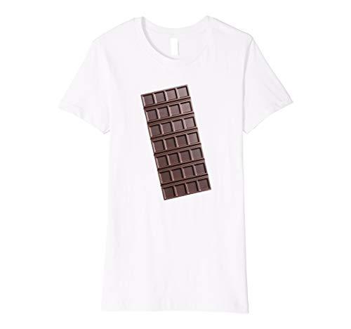 Womens Chocolate Bar Shirt Smores Halloween Costume T-Shirt Small White