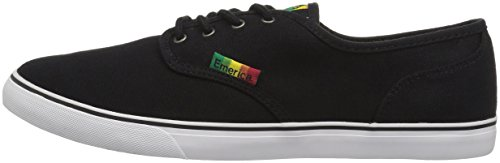 Emerica Wino Cruiser, Color: Black/White/Green, Size: 39 EU / 7 US / 6 UK