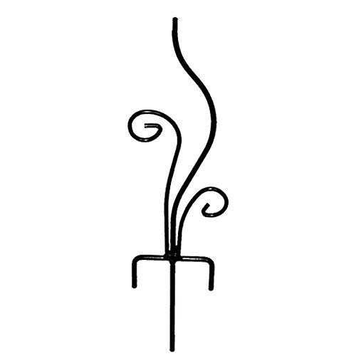 Rome B109 Flowerbed Sundial Base, Wrought Iron with Black Powder Coat, 20-Inch - Coat Powder Iron