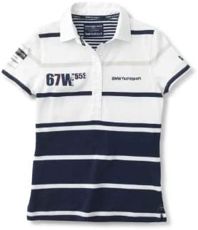 BMW Original Yachting Polo mujer Blanco Color Azul Oscuro, talla M ...