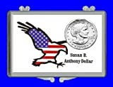 """3"""" x 2"""" Snaplock Coin Holder for """"United States Susan B. Anthony Dollar"""" (With Uncirculated Coin)"""
