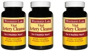 Vital Artery Cleanse Supplement for Heart Health Support, addresses Poor Circulation and clogged Arteries Caused by Plaque buildup. Supports Clean and Supple Arteries. 90 Day Supply.
