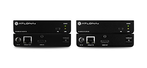 Atlona 4K HDR HDMI Over HDBaseT TX/RX Kit AT-HDR-EX-70-2PS by Atlona Technologies