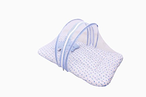 FARETO Baby Mattress with Mosquito Net & Sleeping Bag Combo 0-6 Months (0-6 months, Blue) 2021 August Baby sleeping bag + baby mattress with net Both products have same design cloth, while the sleeping bag provides proper support to the baby while you carry your little one around Mosquito Net Allows fresh air to breeze in while blocks out insects and mosquitoes