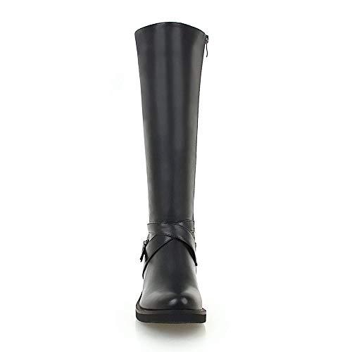 Plates Fermeture Éclair Noir Boots Taoffen Longue Femmes 3 Bottes qSnxtSvwXp