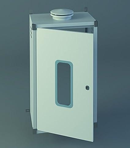 Chimeplast 800480300ARMPEQ - Armario protector para calentador, aluminio blanco 800 x 480 x 300: Amazon.es ...