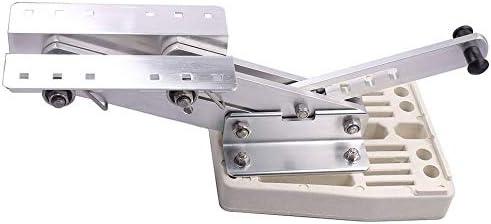 Hoffen Boat Aluminium Outboard Motor Bracket Mount Heavy Duty White Mounting Plate Marine Auxiliary 7.5-20hp