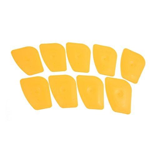 Amazon.com: eDealMax 9 piezas de plástico Amarillo Polígono de la hoja de coches Parasol Ventana de Cristal Abrigo de la película del raspador de Hielo ...