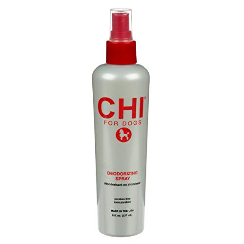 CHI Deodorizing Spray for Dogs, 8 oz | Best Odor Eliminating Spray for All Dogs & Puppies | Sulfate & Paraben Free, pH Balanced for Dogs, Made in The USA