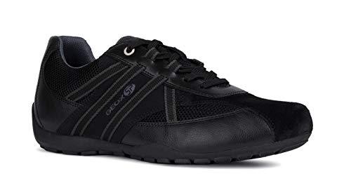 U923fb Zapatos varón Zapatillas Geox Ravex Hombre zapatillas Cordones Deportivos zapato Schwarz Con transpirable mínimo calzado sneaker Sqf5wg