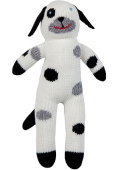 Blabla London The Dog Mini Plush Doll - Knit Stuffed Animal for Kids. Cute, Cuddly & Soft Cotton Toy. Perfect, Forever Cherished. Eco-Friendly. Certified Safe & Non-Toxic.