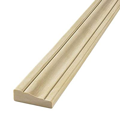 """FLEXTRIM #356 Flexible Casing Molding: 11/16"""" Thick x 2.25"""" Wide x 12' feet Long - for Gentle Arches, Curved Walls and Straight Runs (NOT for Half-Round Shaped Arches)"""