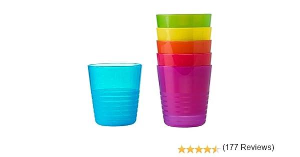 para uso diario y fiestas pl/ástico colores surtidos Vasos de dise/ño moderno