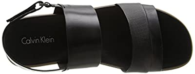 Calvin Klein Men's Dex Stud Embossed Leather Sandal