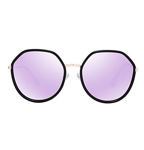 Mujer Luz sol De Ojo Vista Color Redonda Polarizadas Gafas de Anti UV Gafas 3 Cara Vintage 3 BSNOWF Larga 5IwXfq