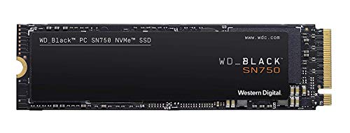 Western Digital 250GB WD_Black SN750 NVMe Internal Gaming SSD - Gen3 PCIe, M.2 2280, 3D NAND - WDS250G3X0C