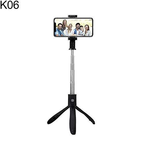 Camera Phone Tripod, Portable and Adjustable,Universal Wireless Bluetooth Selfie Stick Mini Tripod Monopod for iPhone Samsung - K06