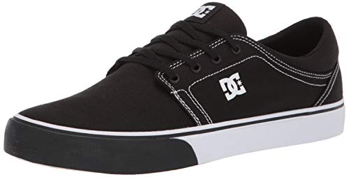 (DC Men's Trase TX Skate Shoe, Black/Yellow, 8 M US)