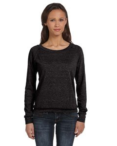 Alternative Women's Slouchy Pullover Sweatshirt, eco Black, Extra Small