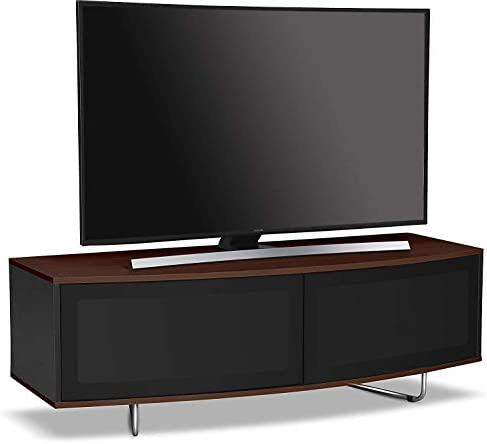 Centurion - Mueble de TV con luz LED y pantalla LCD (32 a 65 pulgadas), color negro brillante y nogal Walnut Walnut Black: Amazon.es: Juguetes y juegos