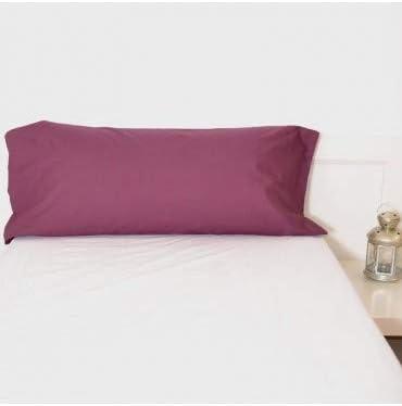 10XDIEZ Funda Almohada Berenjena poliéster algodón - Medidas Almohada - 150cm X 45cm(para Almohada de 135 cm): Amazon.es: Hogar