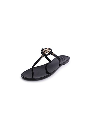 Tory Burch Mini Miller Jelly Thong Sandals, Black - Torry B