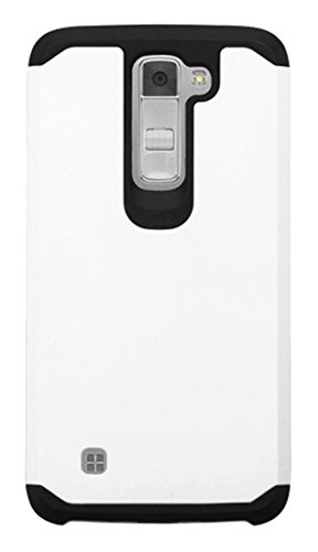 Asmyna Cell Phone Case for LG K7 (Tribute 5) - Retail Packaging - Black/White